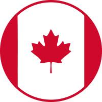 Image of round Canadian flag