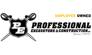 Logo: Professional Excavators & Construction Inc