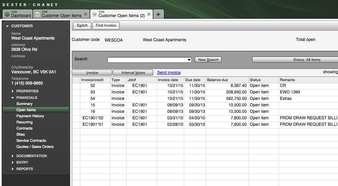 Screenshot - Accounts Receivable