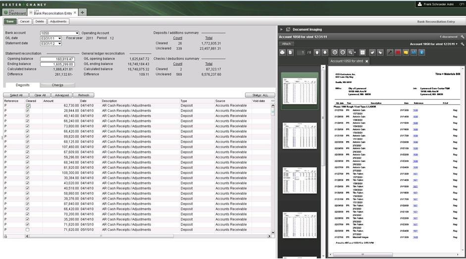 Screenshot - Cash Management