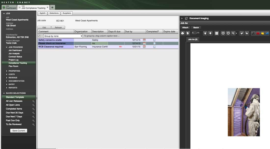 Screenshot - Job Compliance