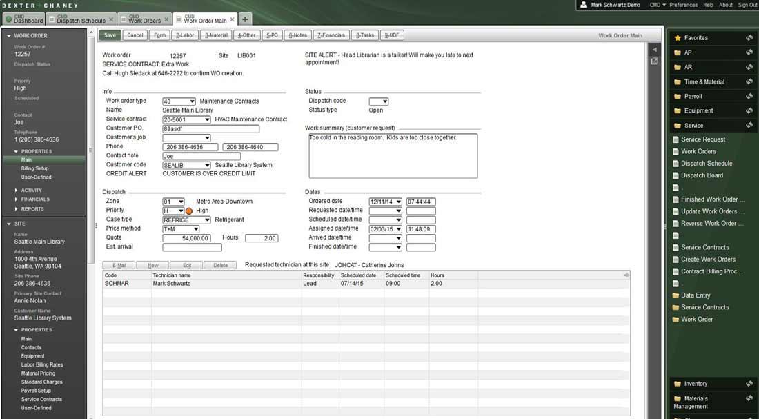 Screenshot - Service Management